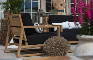 Outdoor, trends, teak, black, lounge, chaise