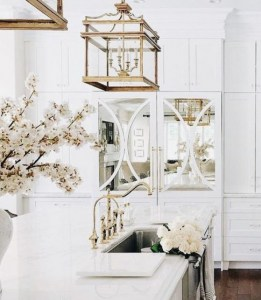 mirrors, mirror, kitchen, white, marble, gold, pendant, lantern, decorate, terravista, interior, design, cabinets