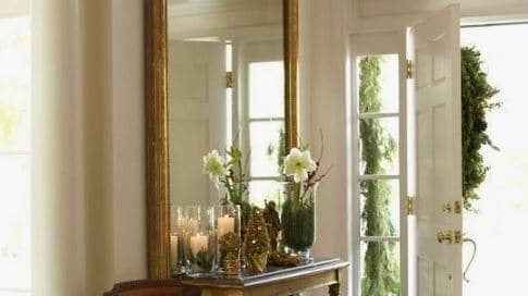 designers, entry way, mirror, table, antique, neutral