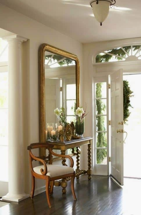 View Larger Image Designers, Entry Way, Mirror, Table, Antique, Neutral