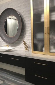 bathroom-black-gold-cabinets-mirror-backsplash- trends-las vegas