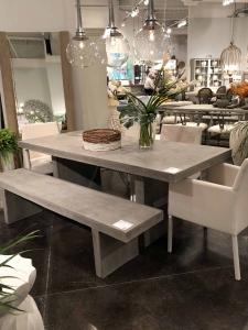 las vegas, outdoor, concrete, trends, patio, furniture, table, farmhouse table