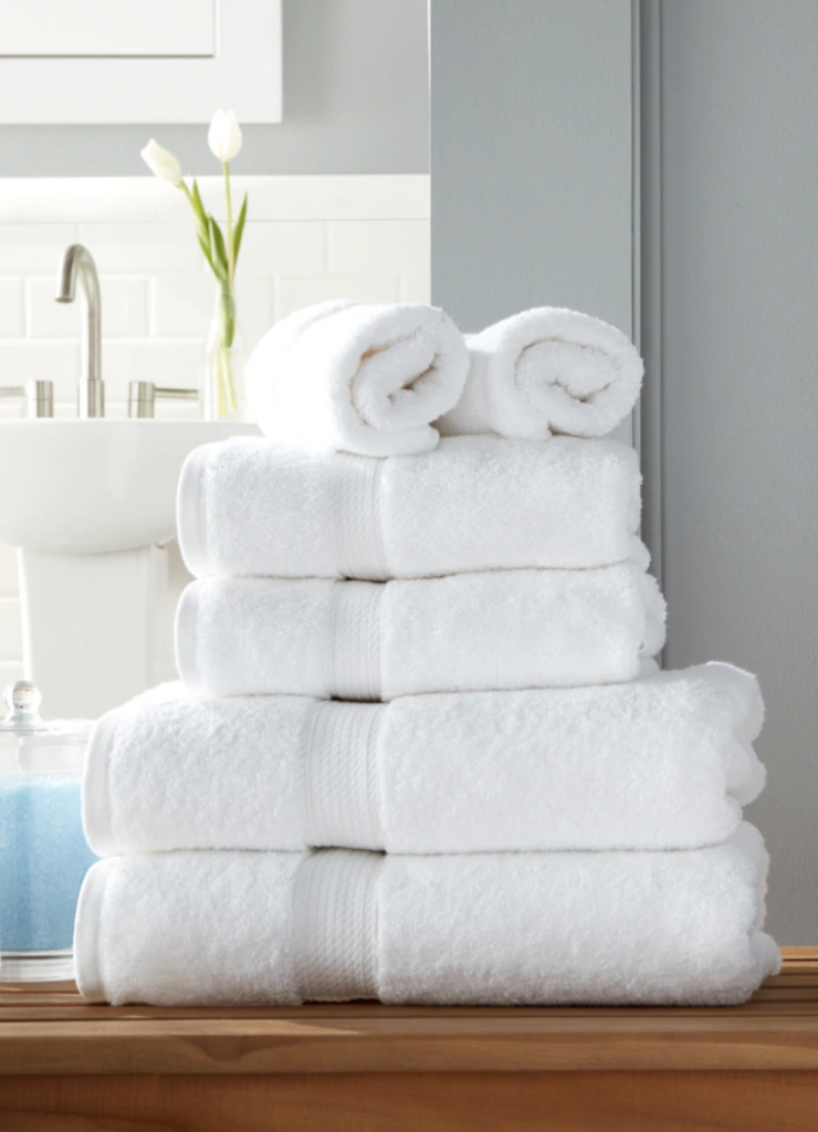 Fresh Neutral Towels for Guest Room