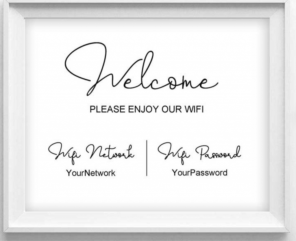 Wifi password for guest room