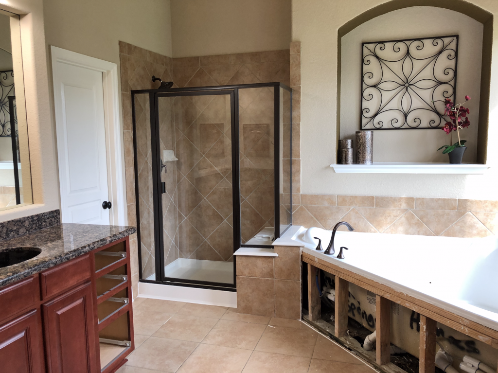 A Suburban Master Bathroom Goes From Bland to Bam! 2