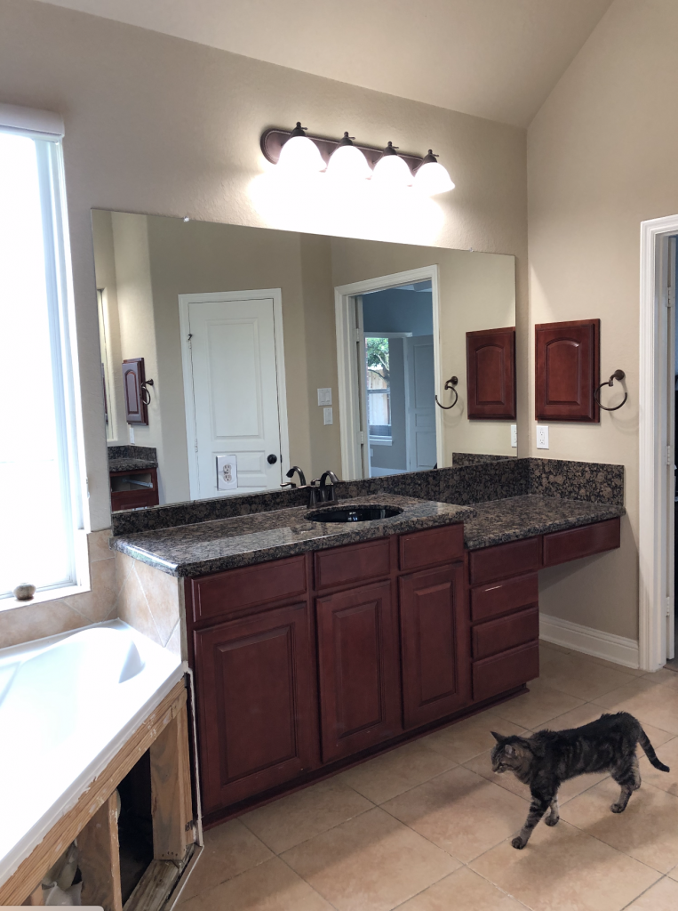 A Suburban Master Bathroom Goes From Bland to Bam! 4