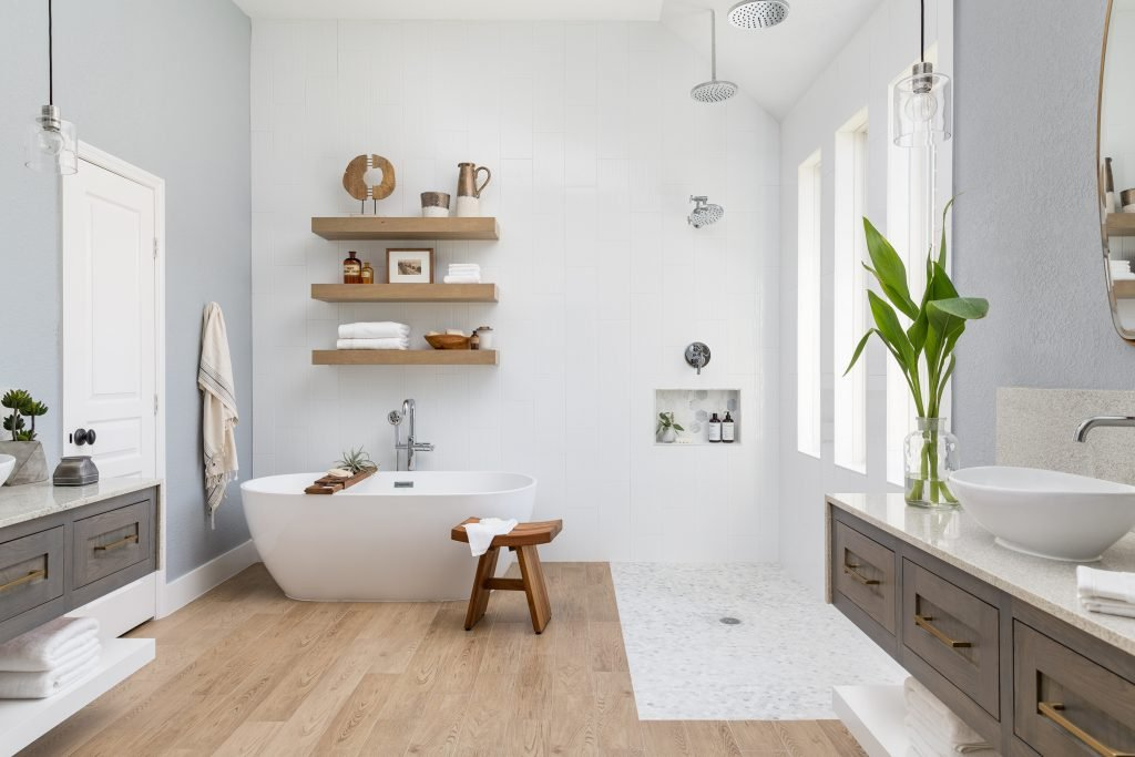 A Suburban Master Bathroom Goes From Bland to Bam! 20