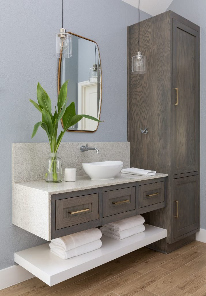 A Suburban Master Bathroom Goes From Bland to Bam! 22